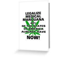 Legalize Medical Marijuana NOW! Greeting Card