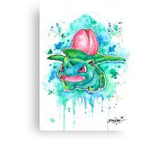 Cool IVYSAUR Watercolor Tshirts + More! ' Pokemon ' Jonny2may Canvas Print