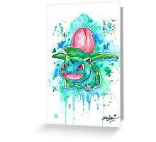 Cool IVYSAUR Watercolor Tshirts + More! ' Pokemon ' Jonny2may Greeting Card