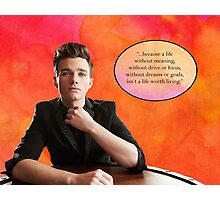 Chris Colfer watercolor Photographic Print