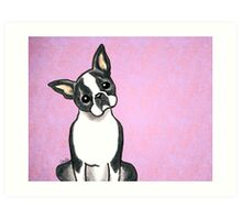 Boston Terrier Listen Up Art Print
