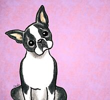 Boston Terrier Listen Up by offleashart
