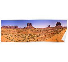 Monument Valley Panorama - Utah - USA Poster