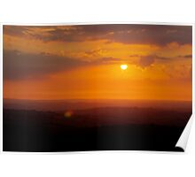 Sunset Over Kernow; Gods Country. Poster