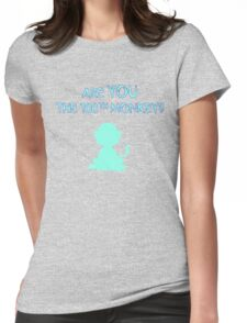 Are YOU the 100th monkey? Womens Fitted T-Shirt