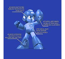 Mega Man Design - NES and SNES Interior Makeup Photographic Print
