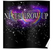 Never Grow Up - Peter Pan Poster