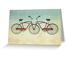 2 bikes 3 wheels Greeting Card