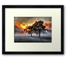 Morning Embers- Jingellic NSW - The HDR Experience Framed Print