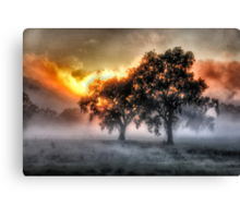 Morning Embers- Jingellic NSW - The HDR Experience Canvas Print