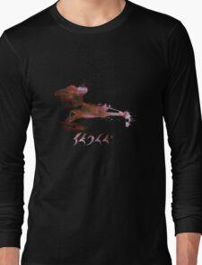 Klingon Battlecruiser Paint Splatter Long Sleeve T-Shirt