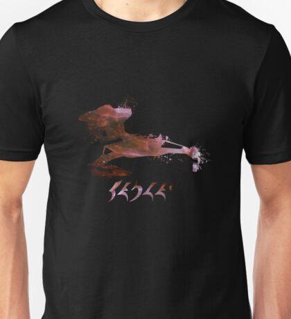 Klingon Battlecruiser Paint Splatter Unisex T-Shirt