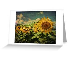 Grungy Sunflowers Greeting Card