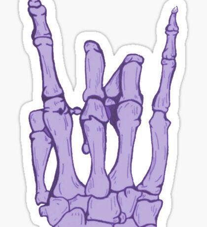 Skeleton hand | Lilac Sticker