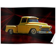 1956 'Please Step Aside' Chevy Pick-Up Poster