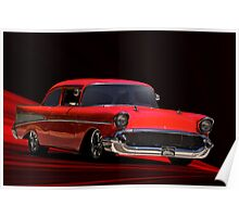 """1957 Chevy """"Post"""" Coupe II Poster"""