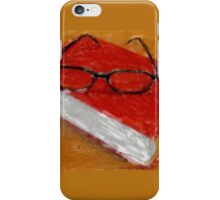 Book Under Glasses iPhone Case/Skin