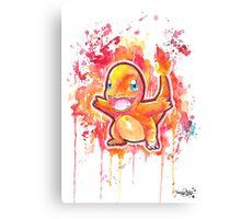 Cool Charmander Watercolor Tshirts + More! ' Pokemon ' Jonny2may Canvas Print