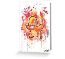 Cool Charmander Watercolor Tshirts + More! ' Pokemon ' Jonny2may Greeting Card
