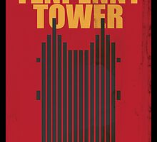 Travel poster Tenpenny Tower by cloakrunner