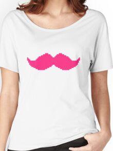 MARKIPLIER PINK MOUSTACHE PIXEL 8 BIT 16 BIT Women's Relaxed Fit T-Shirt