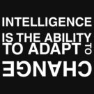 Intelligence is the ability to adapt to change by squidyes