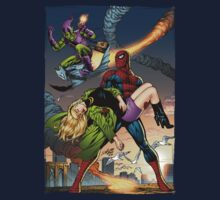 Spidey, Gwen Stacy, Goblin Action Scene by Al Rio by alrioart