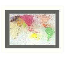 World map as art Art Print