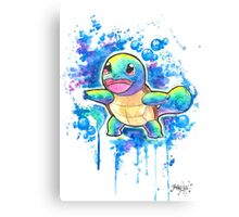Cool Squirtle Watercolor Tshirts + More! ' Pokemon ' Jonny2may Canvas Print