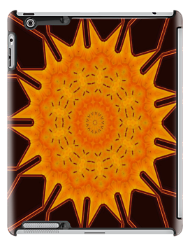 New Media Art Marigold on Mocha Kaleidoscope by taiche