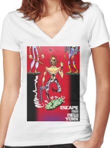 Escape from New York Snake Plissken Women's Fitted V-Neck T-Shirt