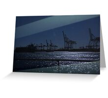 Port Reflection Greeting Card