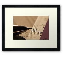 Pen & Scale... Framed Print