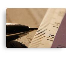 Pen & Scale... Metal Print
