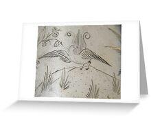 Lyrebird engraving on silver, circa 1880 Greeting Card