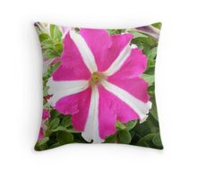 Amazing Flower Pink and White Throw Pillow