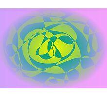 Yellow Green Lavender Photographic Print
