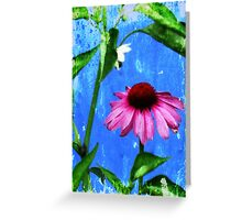 Dance of the Vintage Echinacea Flower Greeting Card