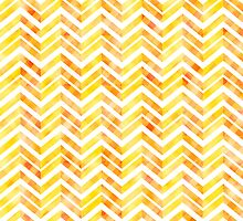 Orange Layered Chevron by silvianeto