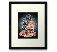 The Eightfold Path Buddha Framed Print