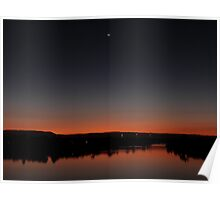 Smiling Moon Sunset Poster
