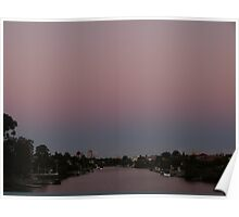 Surfers Canal Sunset Poster