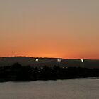 Carrara Stadium Lights at Sunset by FangFeatures