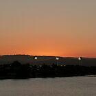 Carrara Stadium Lights at Sunset by FangFeatures