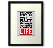 The meaning Of Life Framed Print