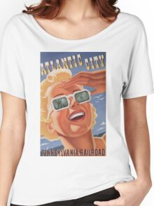 Vintage poster - Atlantic City Women's Relaxed Fit T-Shirt