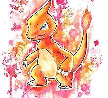 Cool Charmeleon Watercolor Tshirts + More! ' Pokemon ' Jonny2may by Jonny2may