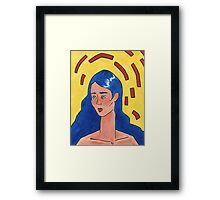 Primary Colour Woman Framed Print