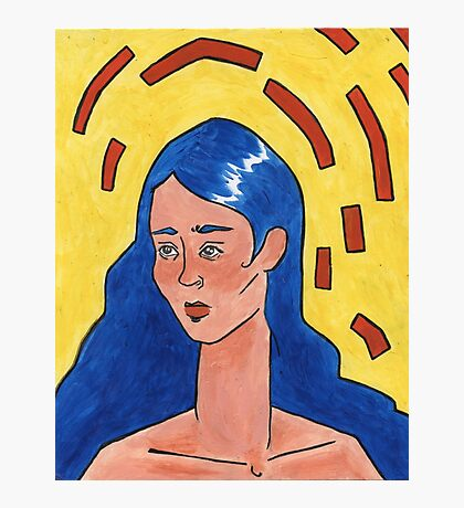 Primary Colour Woman Photographic Print