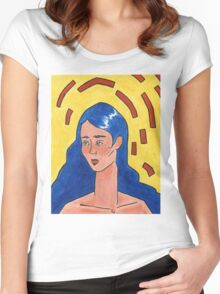 Primary Colour Woman Women's Fitted Scoop T-Shirt